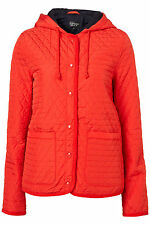 New TOPSHOP hooded quilted jacket UK 10 in Red