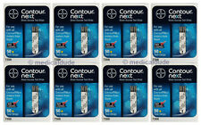 Bayer Contour Next Blood Glucose 400 Test Strips (8 Boxes of 50) Exp 1-Year+