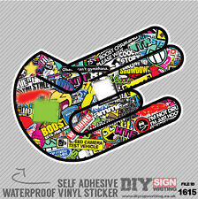 Shocker Stickerbomb Graffiti Hang Loose Self Adhesive Vinyl Sticker JDM Car Van
