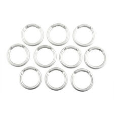 10x Mini Circle Round Carabiner Camping Spring Snap Clip Hook Keychain Hiking