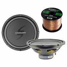 "2 Car 12"" 4ohm Voice Coil Lightning Audio Subwoofers, 16 Gauge 50FT Speaker"