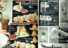 PUBLICITE ADVERTISING 096  1961  Moulinex  (2p)  mixer-baby  hachoir robot Charl