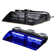 16 LED Car Police Strobe Light Dash Emergency 18 Flashing Police Light Blue New