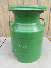 Vintage MILK CAN w/ SPOUT Rare BROOKESIDE DAIRY Cafeteria School FOLK ART Bottle