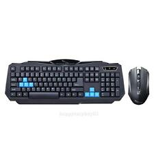 New Wireless Gaming Keyboard + Mouse Set Combo for Desktops Laptops PC ( Black )