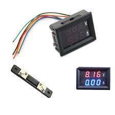 LED Digital Voltmeter Ammeter Amp Volt Meter + Current Shunt DC 100V 50A Dual