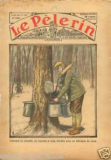 Maple syrup Sirop d'Erable Fabrication Sucre Sugar Canada 1934 ILLUSTRATION