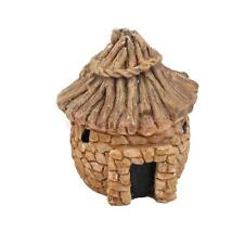 Aquarium Decoration Yellow Resin Hut House For Fish Tank Landscape Ornaments