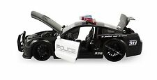 "Jada Heat 2007 Ford Shelby GT-500 Police 1:24 scale 8.5"" diecast model Black J67"