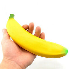 Stress Relief Reliever Squeeze Squidgy Banana Fun Joke Novelty Fruit Toy