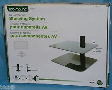 **NEW** Eco-Mount AVF ES250B-T AV Component 2-Shelf Wall Shelving System, Black