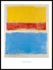 Mark rothko sans titre yellow-red and Blue poster art pression dans le cadre 80x60cm
