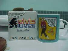 """RARE! ELVIS PRESLEY Commemorative """"ELVIS  LIVES""""  PORCELAIN MUG 2006"""