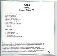 ABBA Arrival Deluxe Edition UK numbered/watermarked promo test CD+DVD