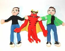 "✨ BEN 10 TOYS THREE BEANBAG PLUSHES 10 1/2"" ~ KIDS BOYS JETRAY RED GREEN BLUE  ✨"