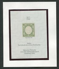 ITALY No. 1 OFFICIAL REPRINT UPU CONGRESS 1984 MEMBERS ONLY !! RARE !! d209