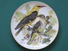 WWF Songbirds of Europe Ursula Band Decorative Display Bird Plate Golden Oriole