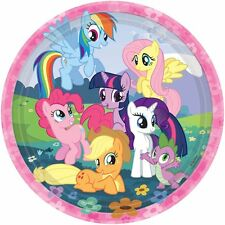 "8 My Little Pony Friendship Birthday Party 9"" Lunch Paper Plates"