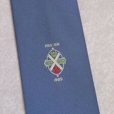 CLUB ASSOCIATION TIE PRO-AM 1985 BLUE VINTAGE RETRO 1980s BY MADDOCKS & DICK