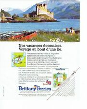 PUBLICITE ADVERTISING 017  1990  Brittany Ferries   chateau Ecosse Eilean Castle