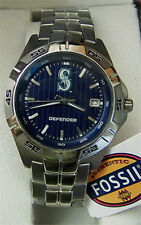 Seattle Mariners Fossil Three Hand Date Watch Mens