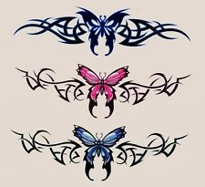 3 BUTTERFLY TATTOO STYLE TRAMP STAMP Vinyl R/C TABLET STICKERS/BIKE DECALS