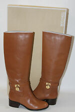 NEW! MICHAEL KORS HAMILTON LUGGAGE LEATHER TALL RIDDING BOOT   SZ 5    MSRP$240