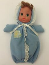 "1984 Mattel Baby Beans Doll Blue Gown Moon Stars 6"" Green Eyes Freckles"