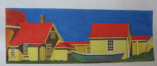 Handpainted Needlepoint Canvas Maggie Annie Boat Ashore M974