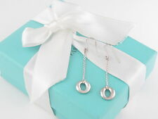 Tiffany & Co Silver Peretti Sevillana Dangling Dangle Earrings Box Included