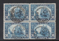 Canada #158iii VF Used Man On The Mast Block **With Certificate**
