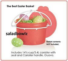 TUPPERWARE The BEST EASTER BASKET 14 cup CANISTER with CARIOLIER HANDLE fREEsHIP