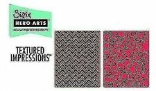 NUOVA SIZZIX embossing folders x 2 cheverons + FLOREALE