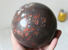 7.37LB Natural Chicken-Blood Gem Stone Heliotrope Crystal Sphere Ball Healing