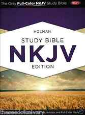 NKJV Holman Study Bible, Hardcover FULL COLOR BRAND NEW!!