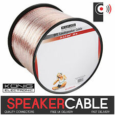 KÖNIG 50m Reel of Twin 2.5mm² OFC Speaker Cable (Oxygen Free Copper) Audio KONIG