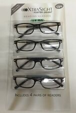 4 Pack FOSTER GRANT Patrick Tortoise READING GLASSES +1.50 Scratch Resistant NEW