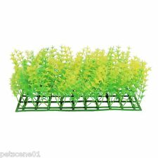 Betta Aquarium Plant Plastic Mat Yellow Green Weed  25 x 12.5 x 8 cm pp457