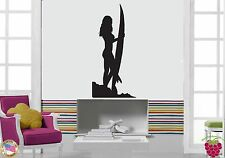 Wall Stickers Vinyl Decal Surfing Sexy Girl Sports Surfboard  z1183