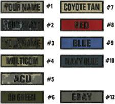 Custom NAME TAPE 1X4 EMBROIDERY CUSTOM NAMEShook on back