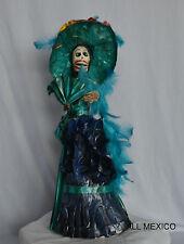 Catrina Mexican Doll Day of Dead Paper Mache Dia de los Muertos Folk Art 11160 L