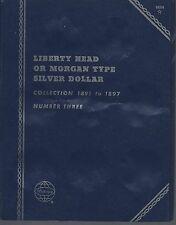 1891-1897 Morgan Silver Dollars Whitman Folder NOS number MCC
