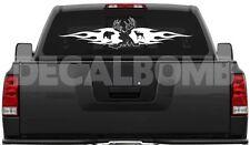 BUCK & FLAMES w/ elk & bear hunt decal / sticker 30 X 7