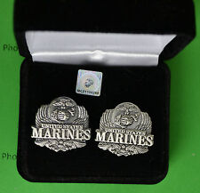 Marine Corps Eagle Cufflinks in Presentation Gift Box USMC