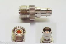 UHF Female PL259 Jack to BNC Female Jack Straight RF Connector Adapter
