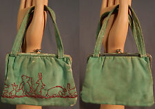 Vintage S. Slesinger Winnie The Pooh Characters Embroidered Childs Purse 1930s