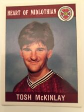 Panini Football 90 Sticker No 401 Tosh McKinlay Heart Of Midlothian Herts FC