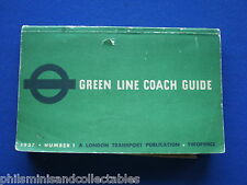 London Transport  - Green Line Coach Guide   May 1937 Number 1