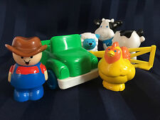 Tyco Farmer Truck and Animals Set SHEEP COW CHICKEN