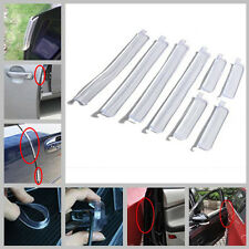 8x Car Transparent Soft Door Protector Edge Guard Anti-scratch Rub Strips Bumper